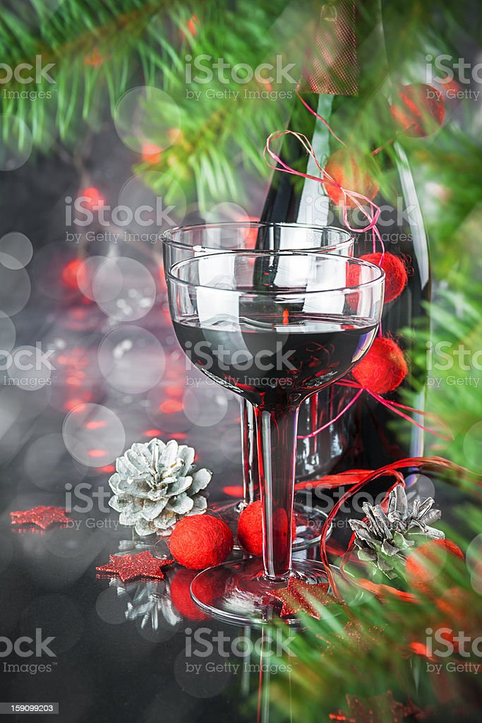 Christmas and New Year card royalty-free stock photo