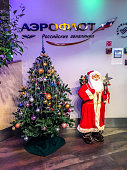 Christmas and New Year Decorations at Moscow Airport Sheremetyev