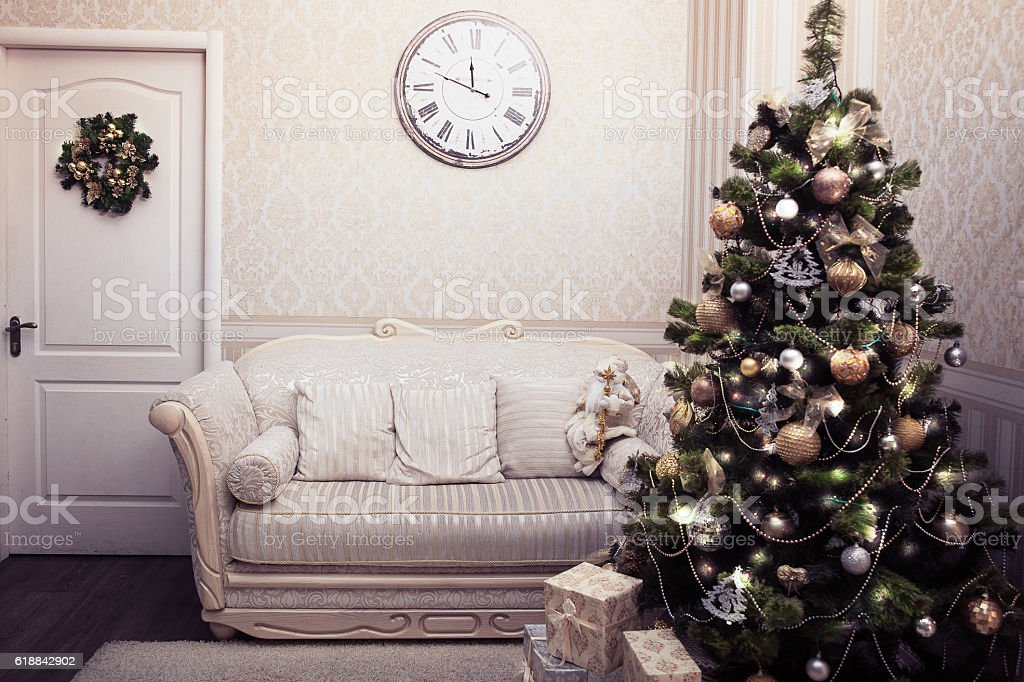 Christmas and New Year scene stock photo