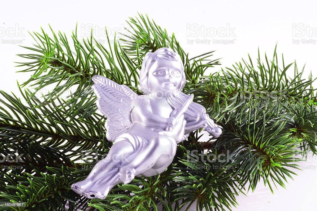 Christmas angel. stock photo