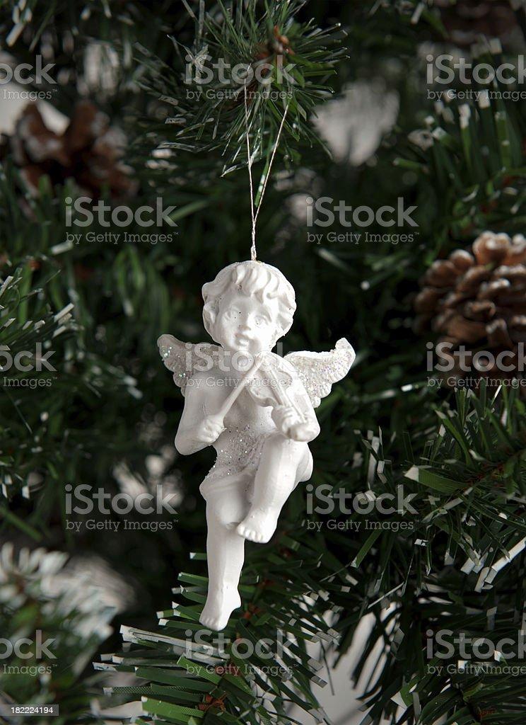 Christmas angel stock photo