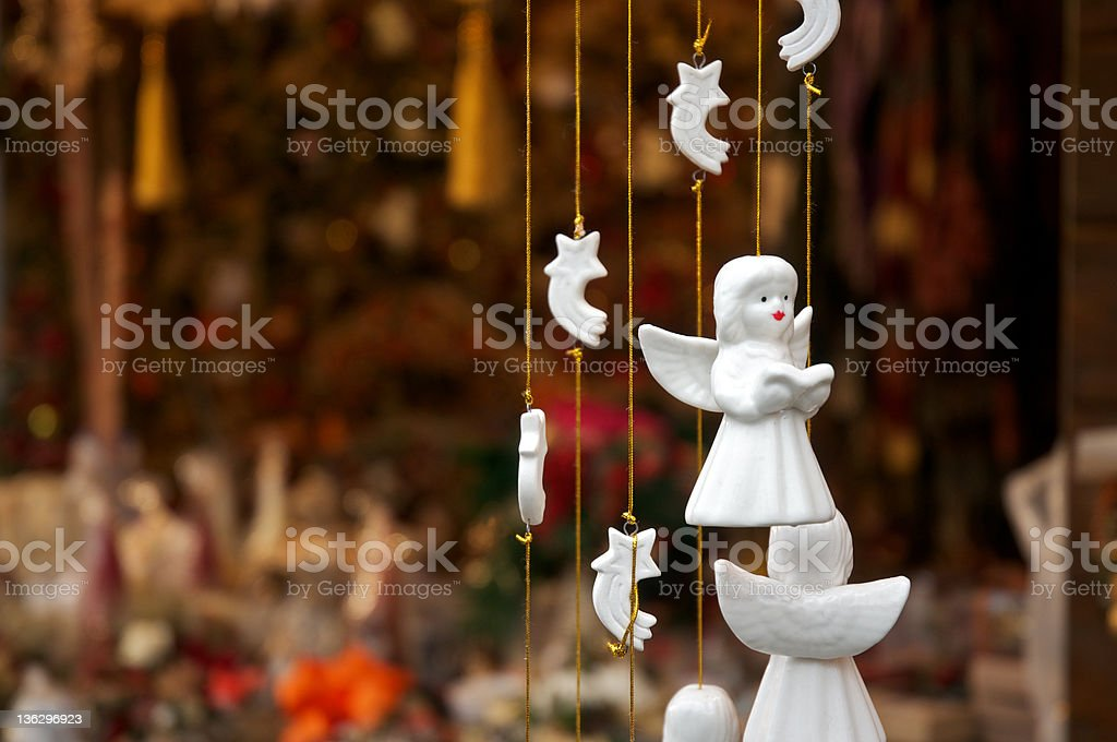 Christmas angels stock photo