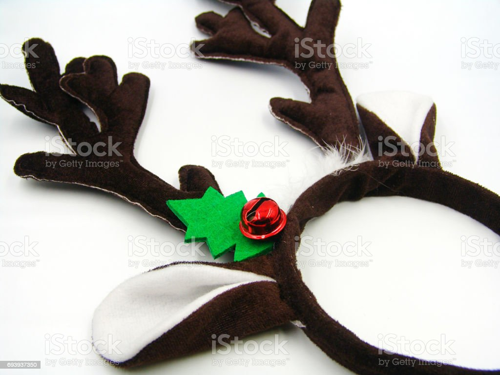 Christmas antler headband stock photo