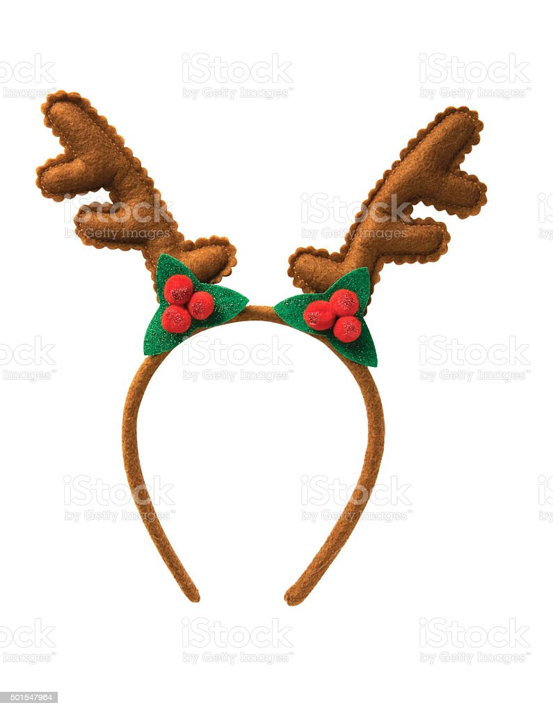 christmas antler headbands stock photo