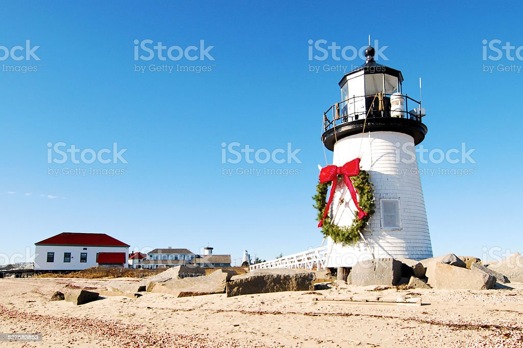 Christmas at Nantucket stock photo