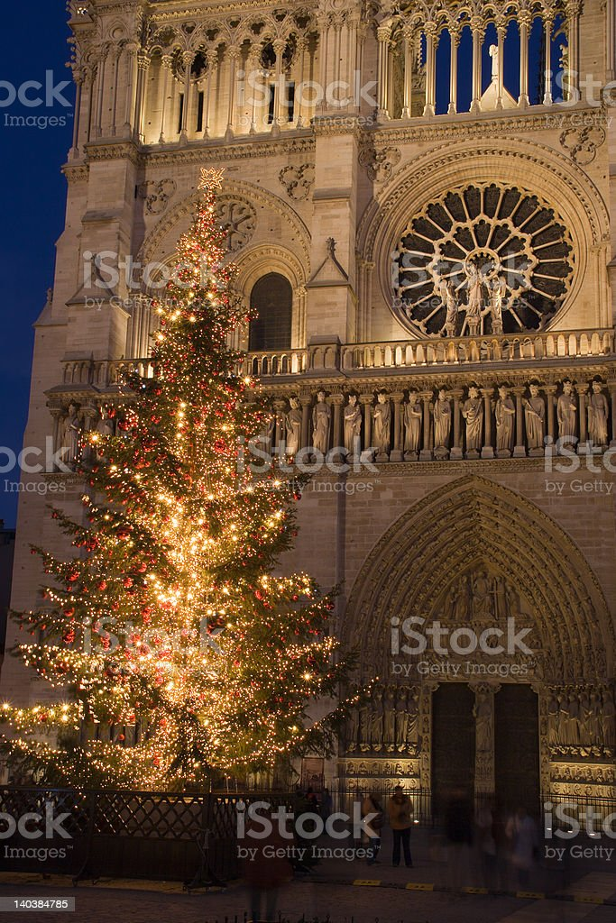 Christmas at Notre-Dame royalty-free stock photo