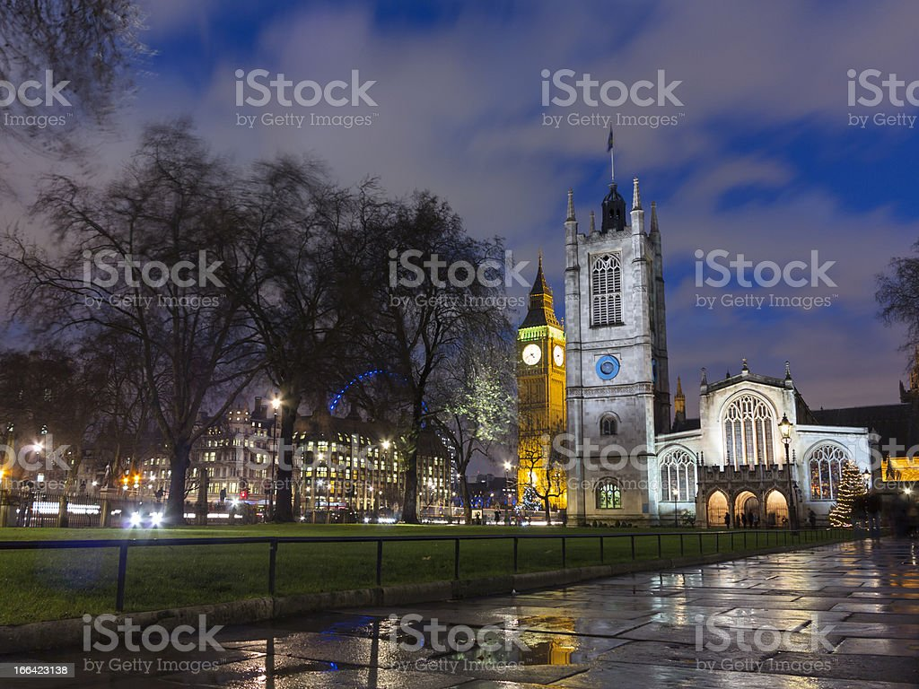 Christmas at Parliament Square, London stock photo