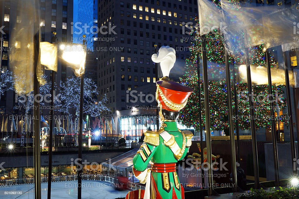Christmas at Rockefeller Center stock photo