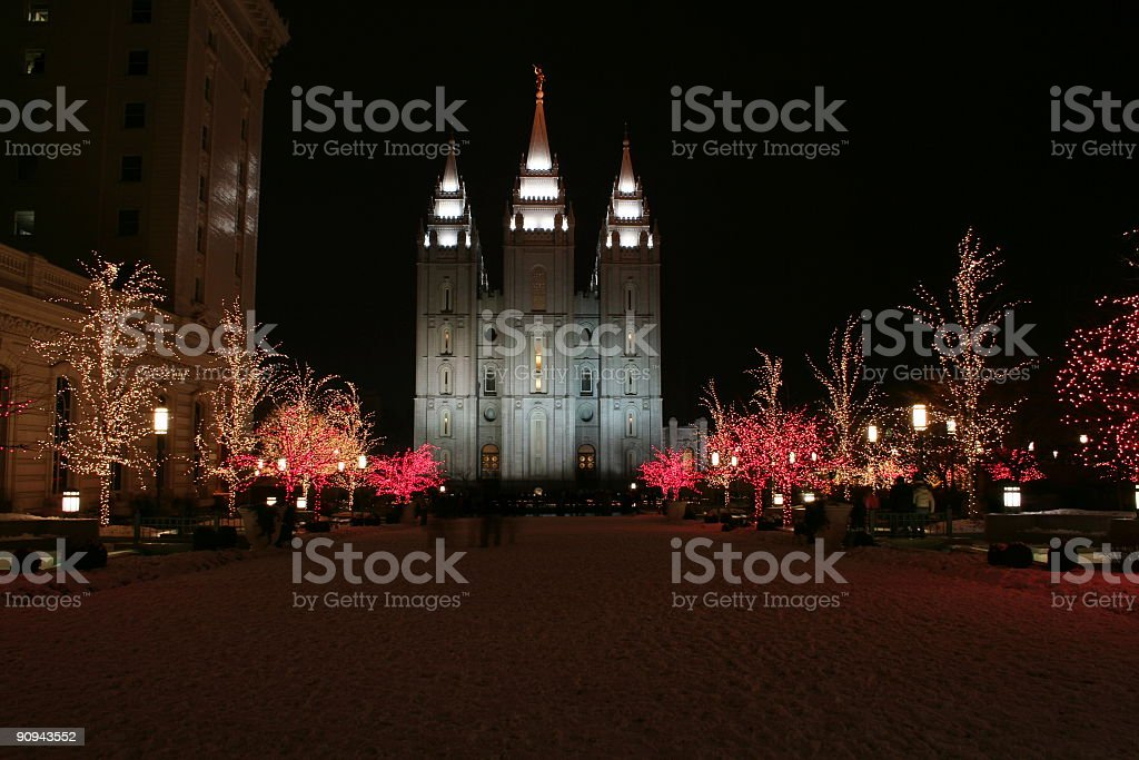 Christmas at Temple Square royalty-free stock photo