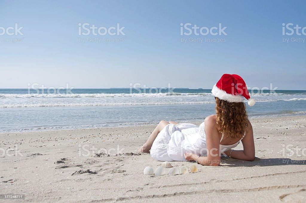 Navidad en la playa foto de stock libre de derechos