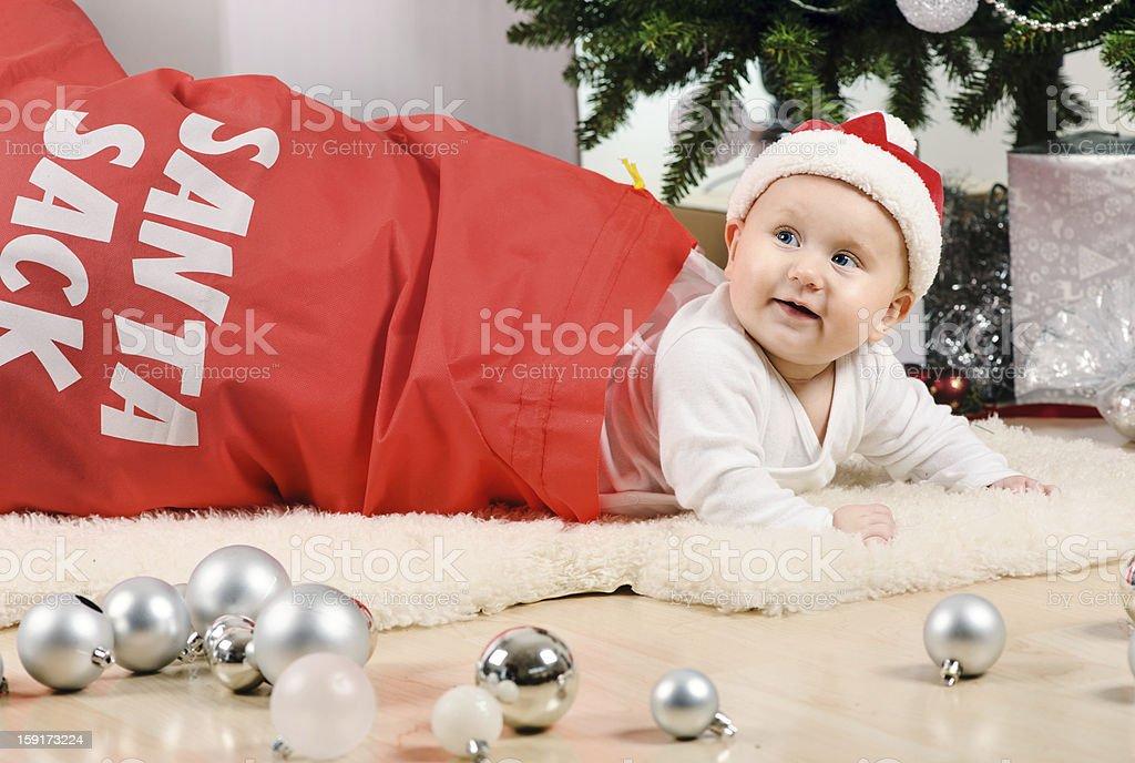 Christmas baby girl royalty-free stock photo