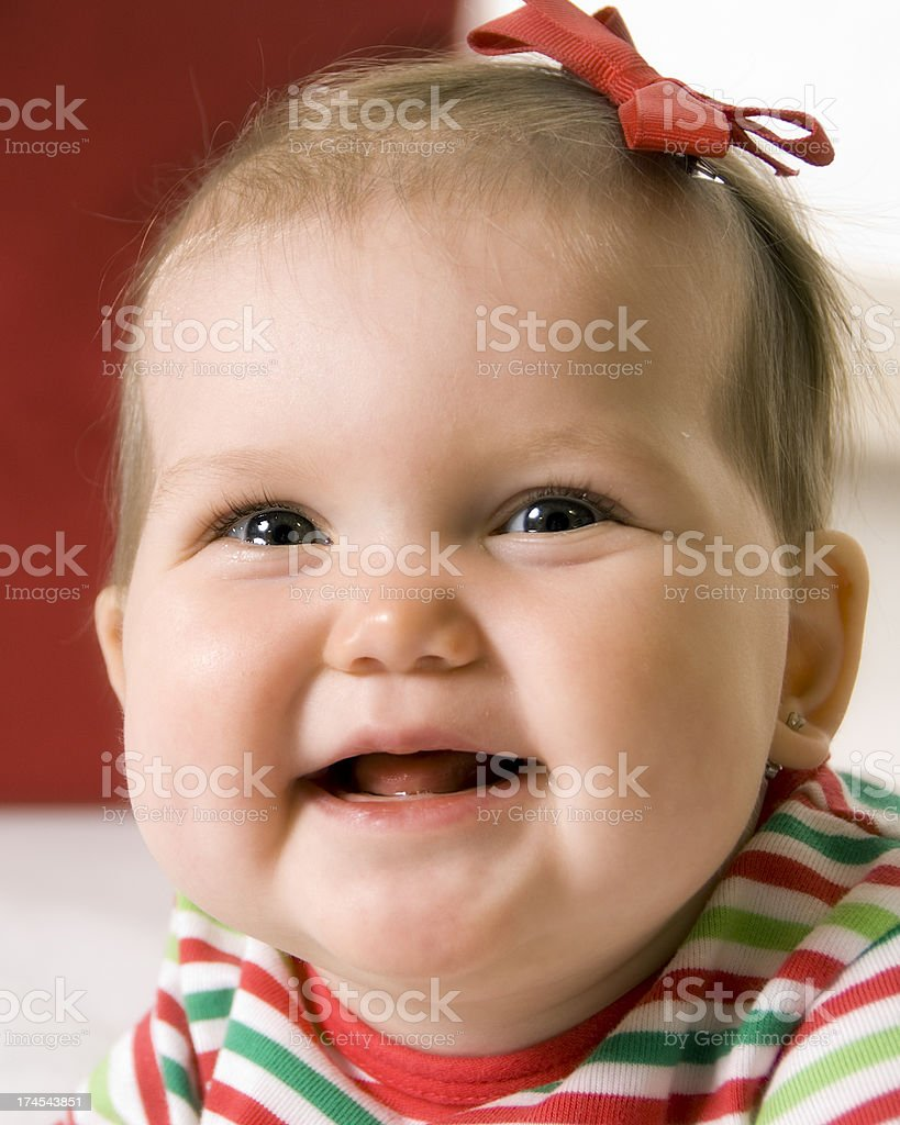 Christmas Baby Portrait Series royalty-free stock photo