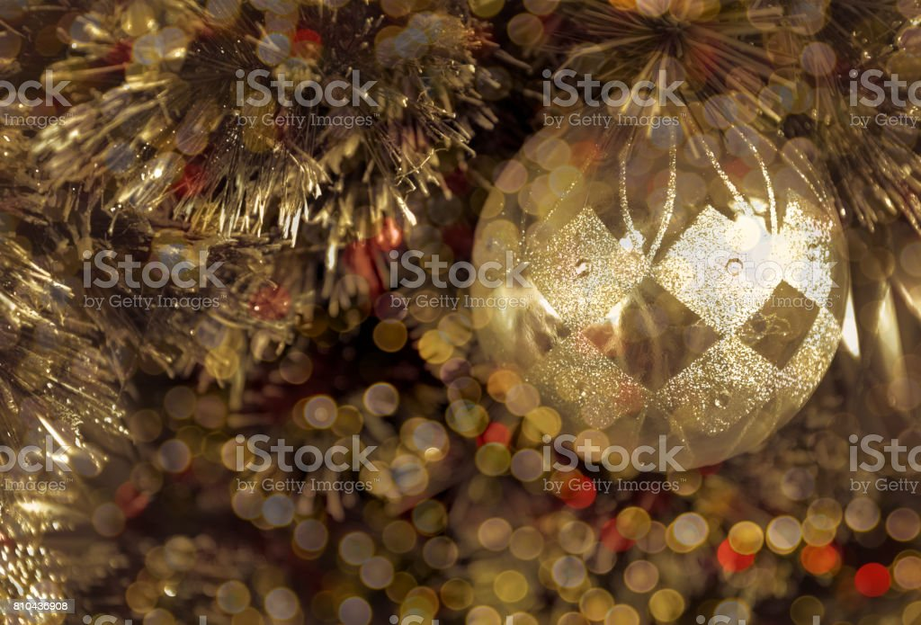 Christmas background and circle light bokeh with vintage style stock photo