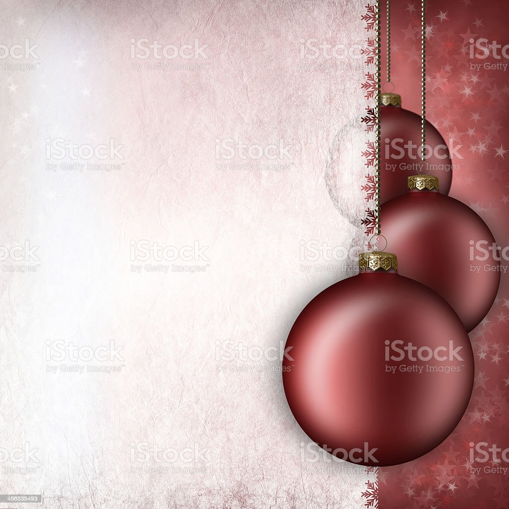 Christmas background - baubles and blank space for text royalty-free stock photo