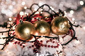 Christmas background decoration with bokeh lights
