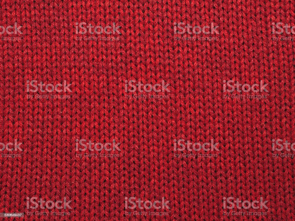 Christmas background from red knitted red wool stock photo