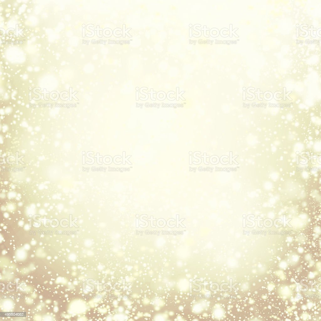 Christmas background - gold sparkling lights. Defocused golden stock photo