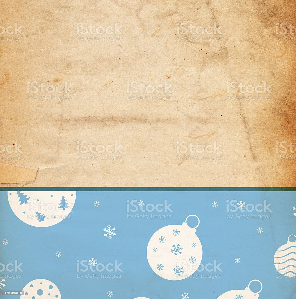 Christmas Background Paper - Blue Baubles royalty-free stock photo