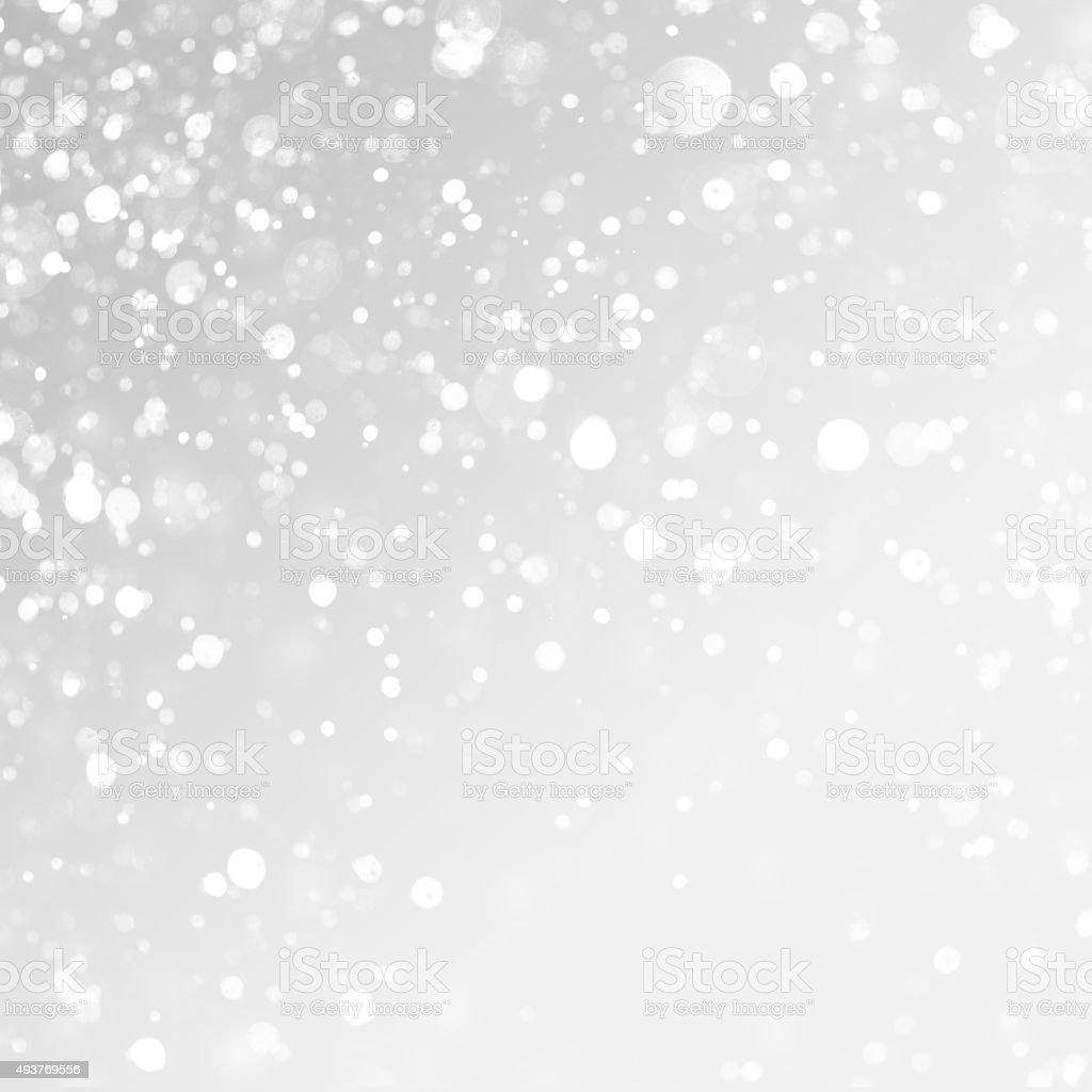 christmas background. Snow on grey background. stock photo