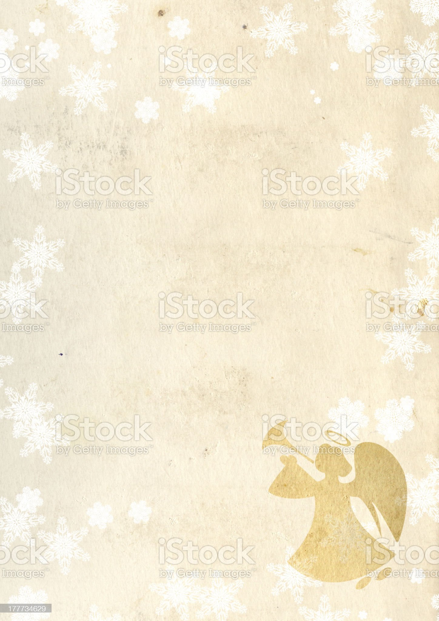 Christmas background with angel royalty-free stock photo