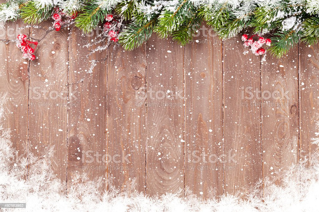 Christmas background with fir tree stock photo