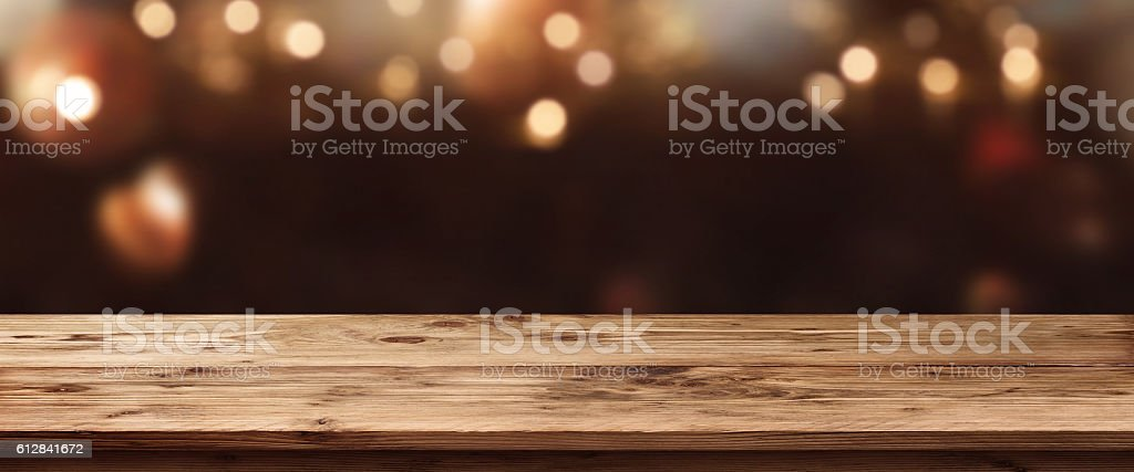 Christmas background with light spots stock photo