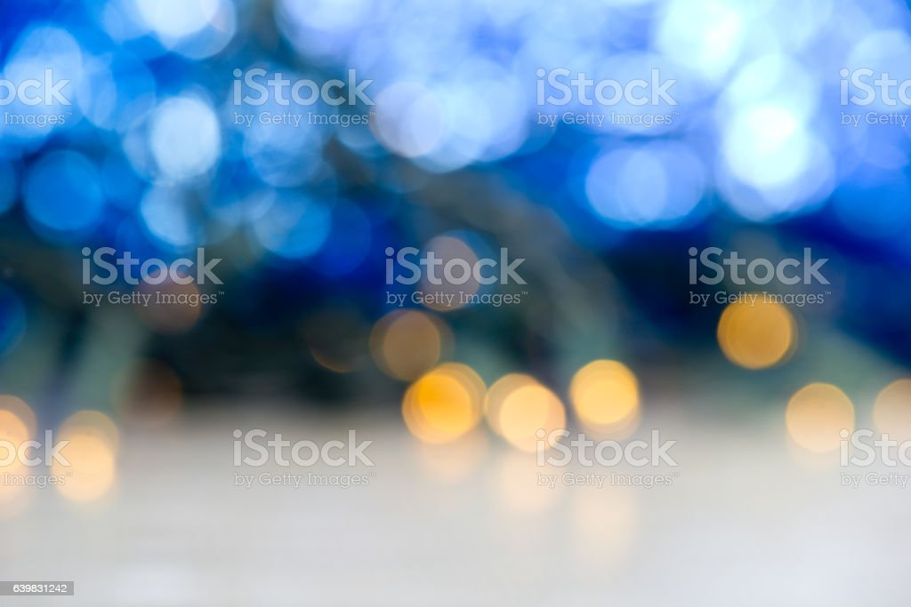 Christmas background with lights and glitter stock photo