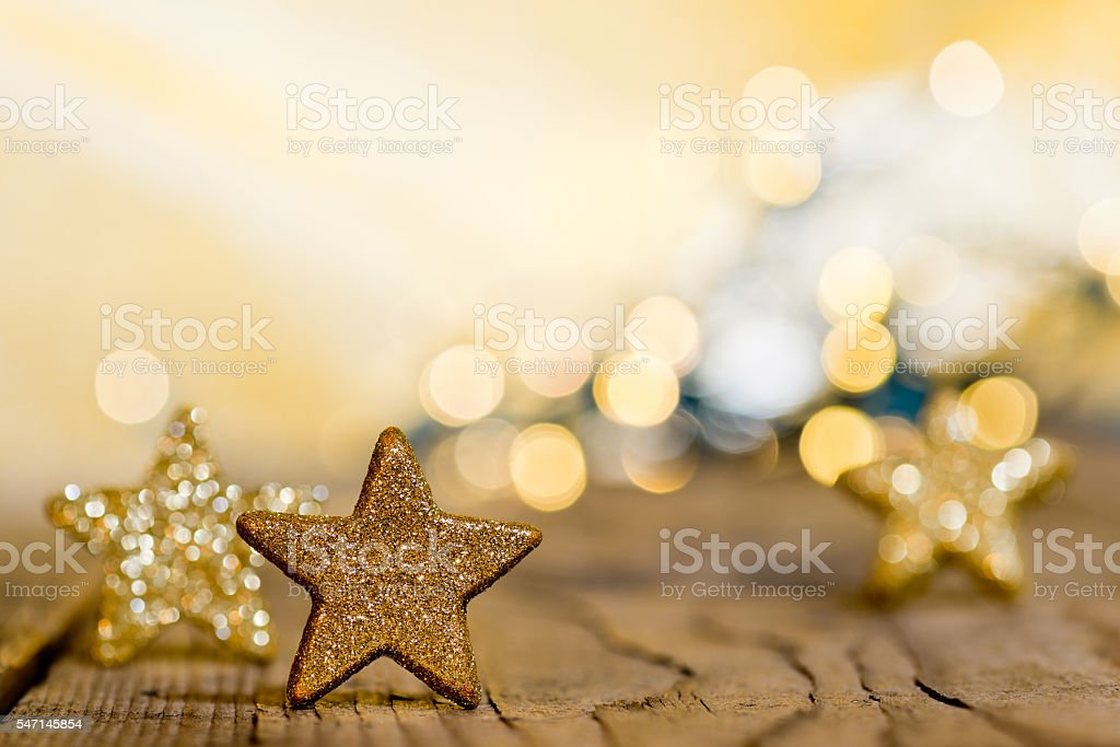 Christmas background with stars and christmas glitter stock photo