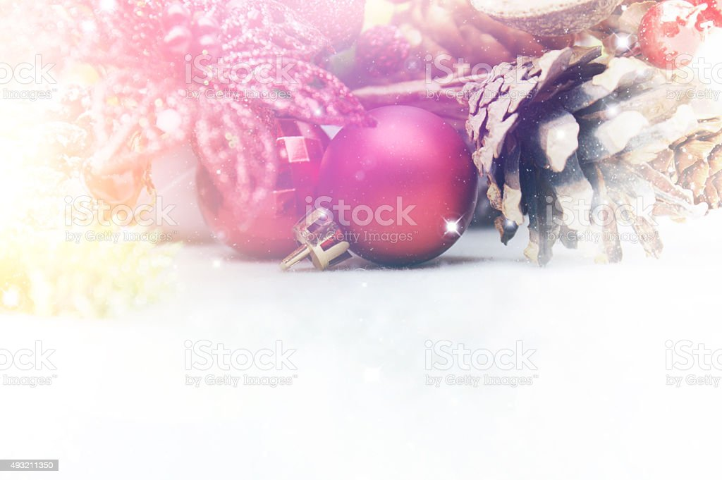 Christmas background with vintage effect stock photo