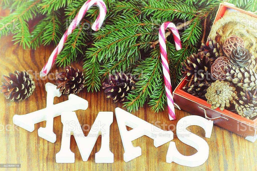 christmas background wood ribbon stock photo