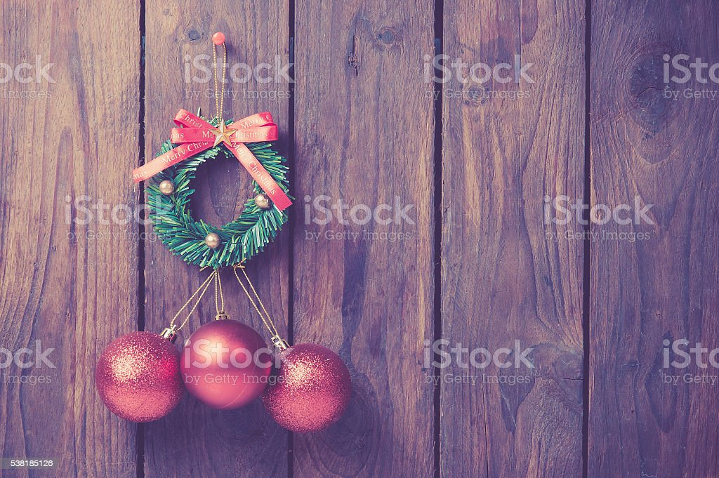 Christmas background,vintage color toned image stock photo