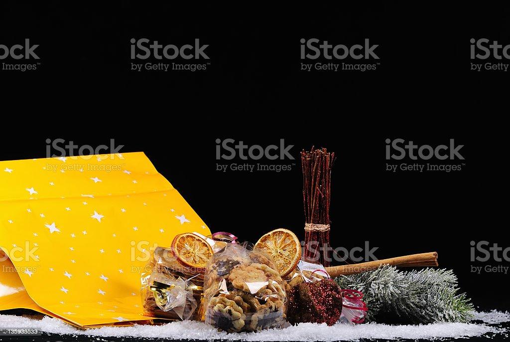 christmas bag stock photo
