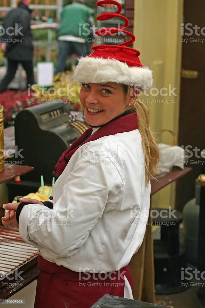 Christmas bakery girl royalty-free stock photo