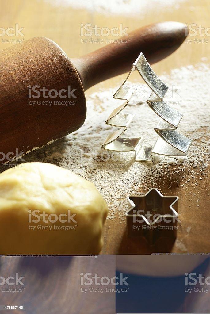 Christmas baking cookies royalty-free stock photo