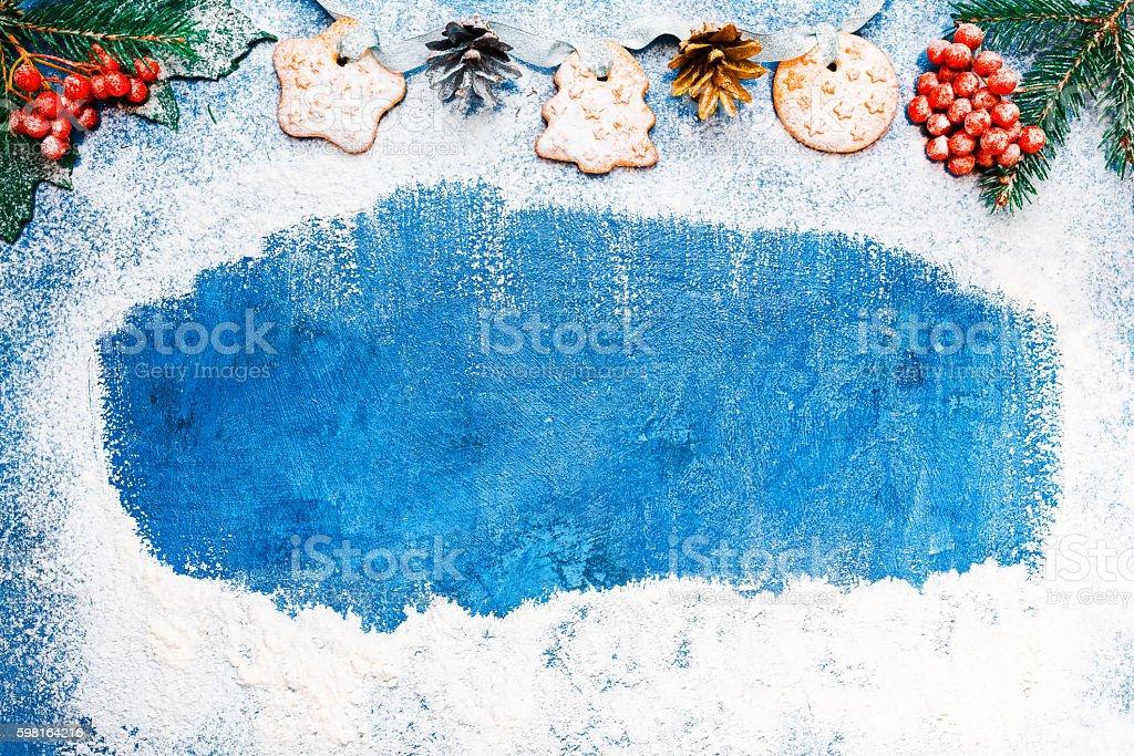 Christmas baking frame stock photo