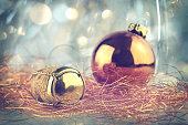 Christmas ball and Champagne cork