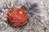 christmas ball and garland