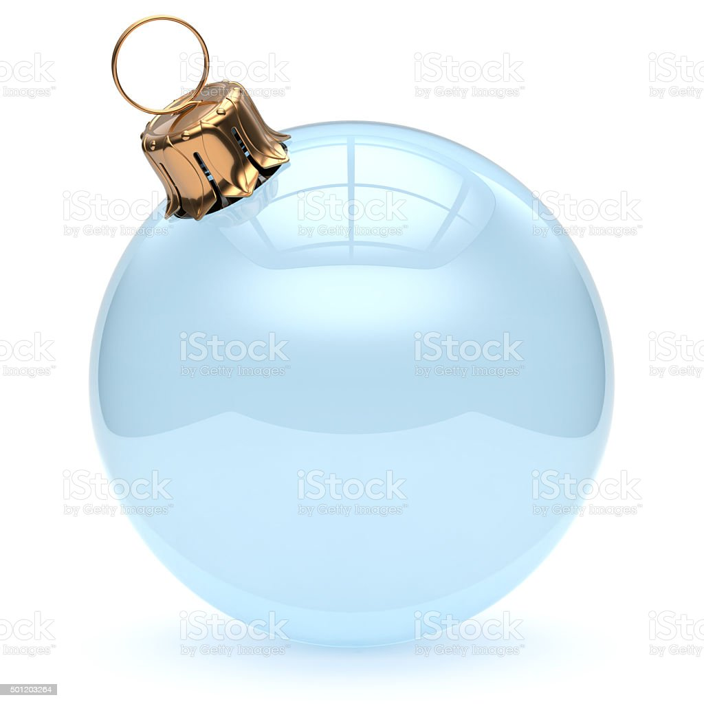 Christmas ball glass empty clear blank adornment New Year stock photo