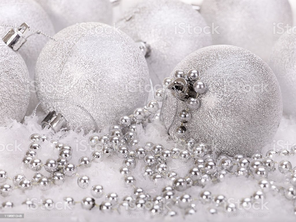 Christmas ball in snow. royalty-free stock photo