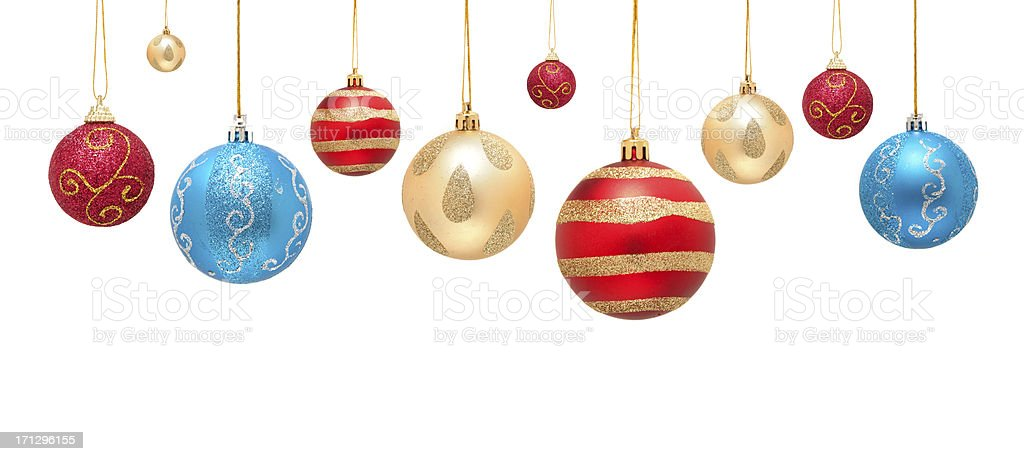 Christmas ball isolated on white background stock photo
