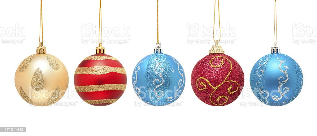 Christmas ball isolated on white background stock photo