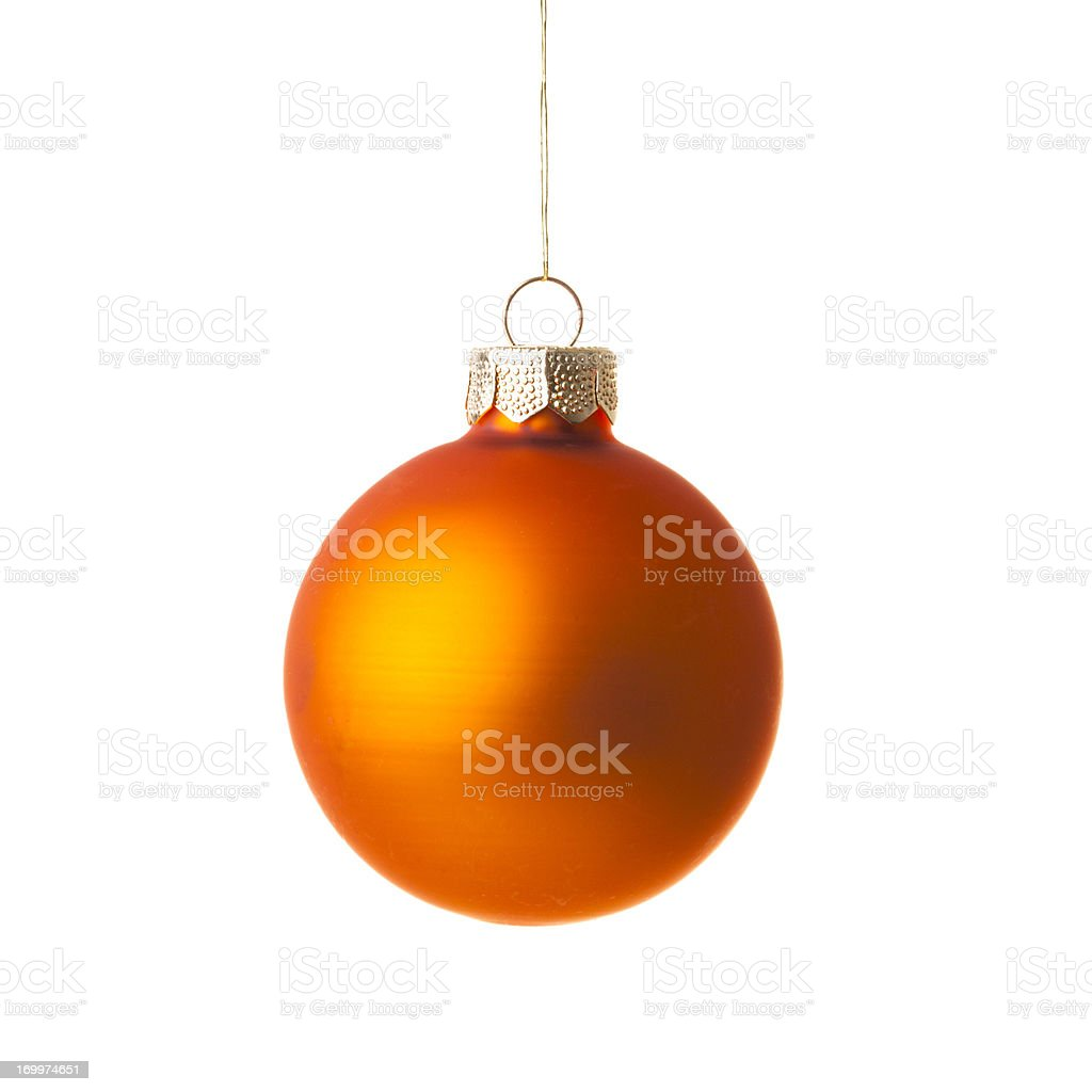 Christmas ball, isolated on white stock photo