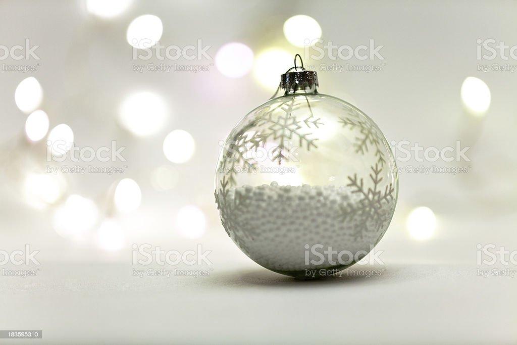 Christmas ball macro design royalty-free stock photo