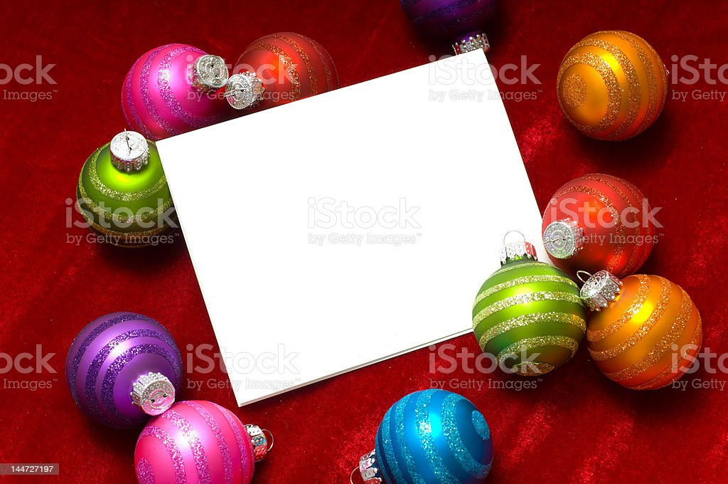 Christmas ball Note-Card royalty-free stock photo