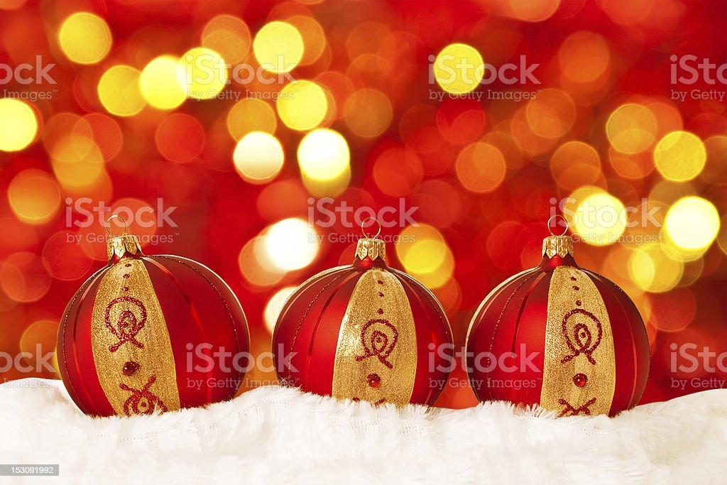 Christmas ball on abstract light background stock photo