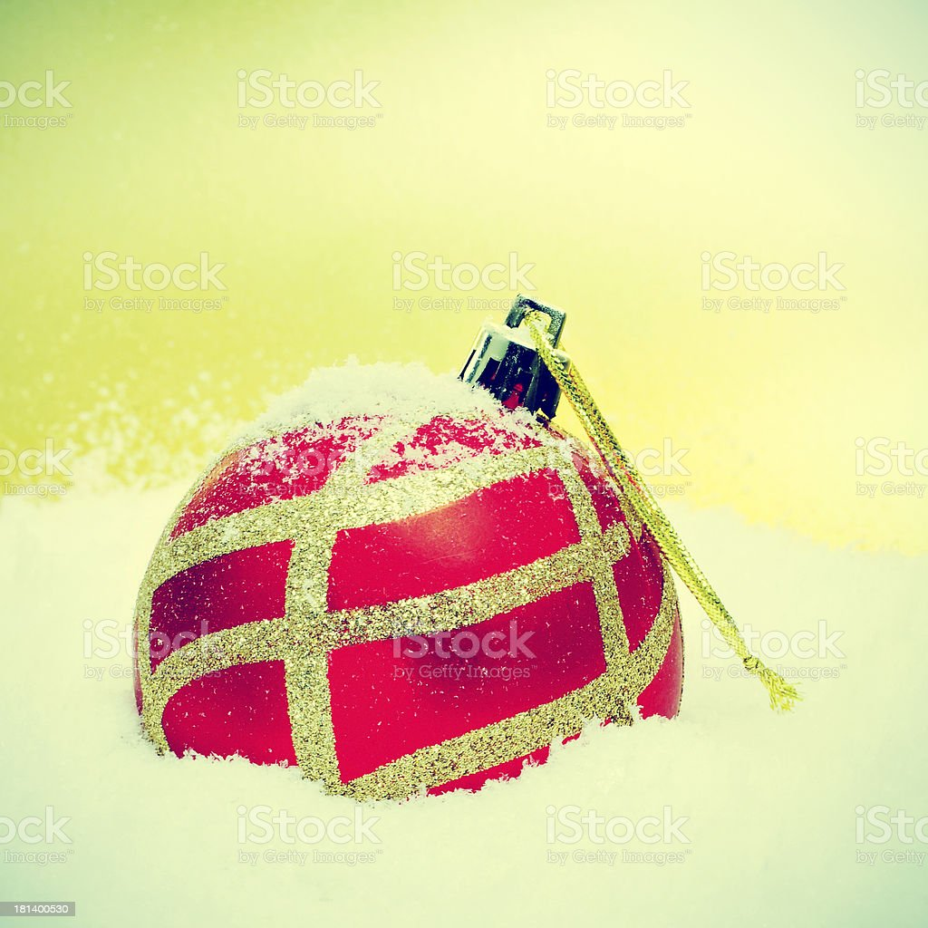 christmas ball on the snow royalty-free stock photo