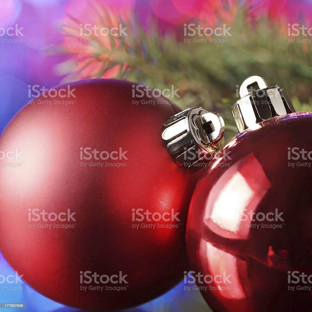 christmas ball on  tree royalty-free stock photo