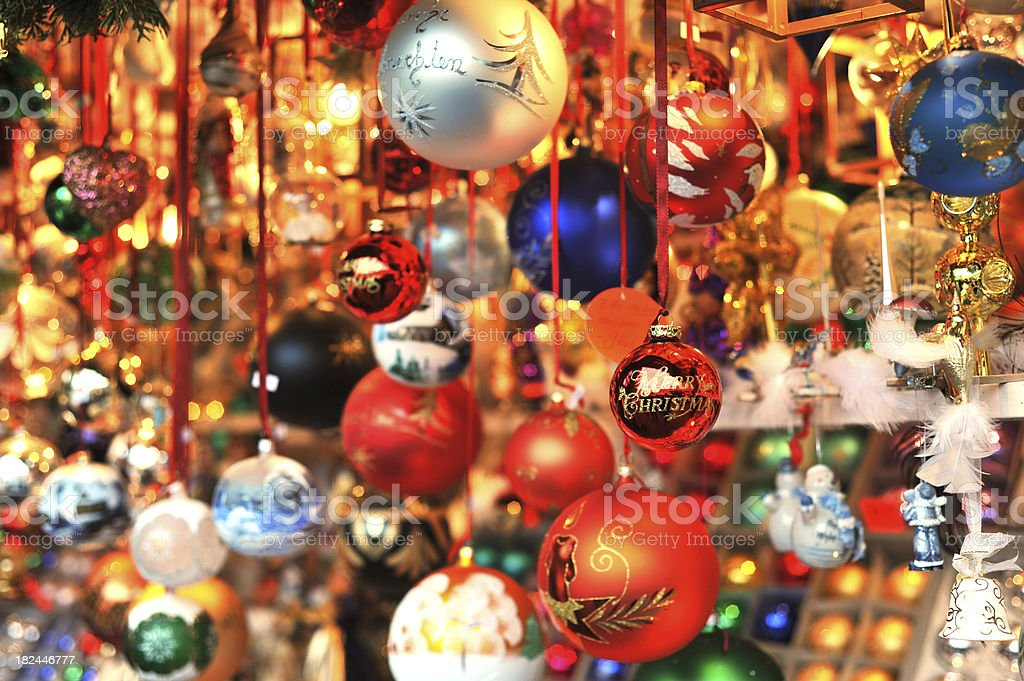 christmas ball ornament stock photo