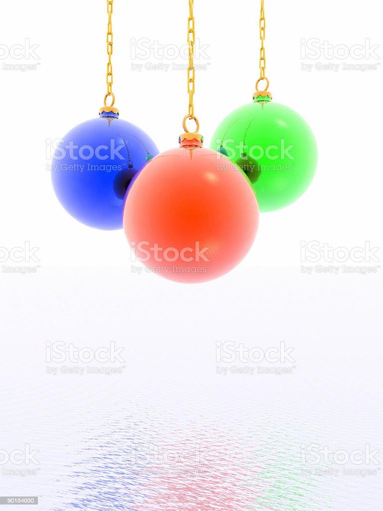3D christmas ball royalty-free stock photo