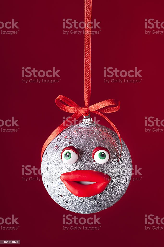 Christmas ball portrait royalty-free stock photo